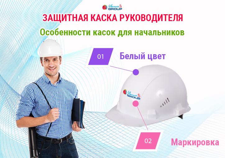 Каска руководителя строительная, защитная и крутая