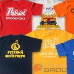 нанесение надписей и логотипов на футболки оптом в москве