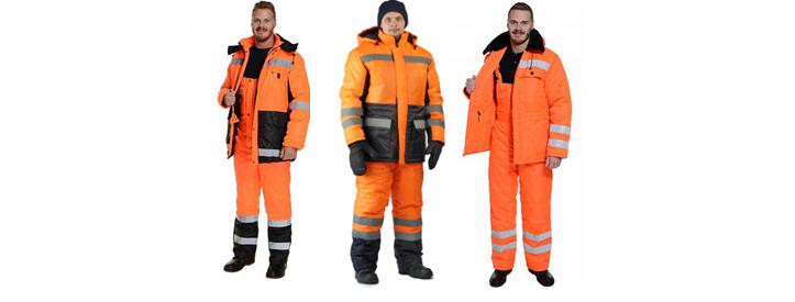 Зимние костюмы для дорожных рабочих